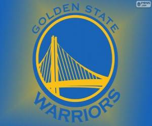 Logo of Golden State Warriors, NBA team. Pacific Division, Western Conference puzzle