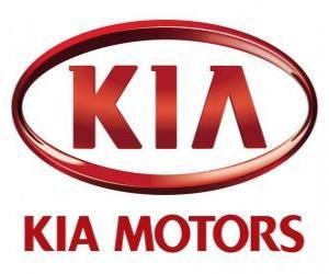 Logo of KIA Motors, South Korean automobile manufacturer puzzle