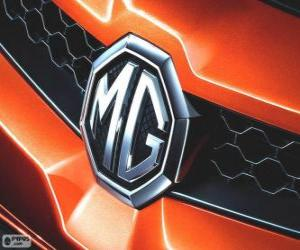 Logo of MG, brand of the United Kingdom puzzle