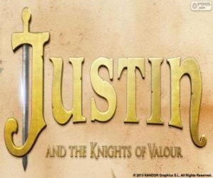 Logo of the film Justin and the Knights of Valour puzzle