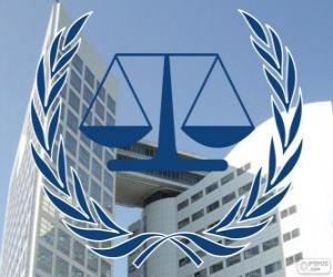Logo of the ICC, International Criminal Court puzzle
