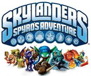 Logo of the video game from Spyro the Dragon, Skylanders: Spyro's Adventure puzzle