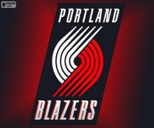 Logo Portland Trail Blazers, NBA team. Northwest Division, Western Conference puzzle