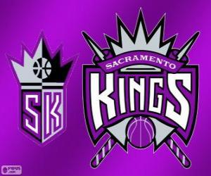 Logo Sacramento Kings, NBA team. Pacific Division, Western Conference puzzle