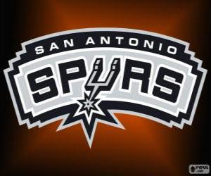 Logo San Antonio Spurs, NBA team. Southwest Division, Western Conference puzzle