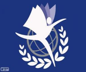 Logo UNITAR, United Nations Institute for Training and Research puzzle