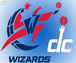 Logo Washington Wizards, NBA team. Southeast Division, Eastern Conference puzzle