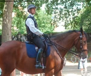 London police on horseback puzzle