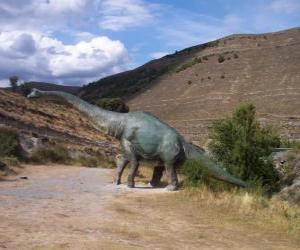 Lone dinosaur puzzle