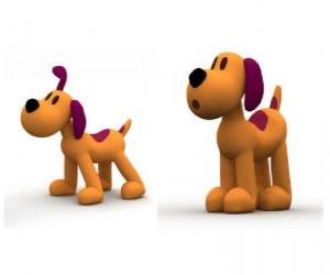 Loula the dog is the mascot of Pocoyo puzzle