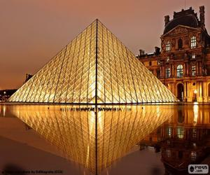 Louvre Pyramid, Paris, Francia puzzle