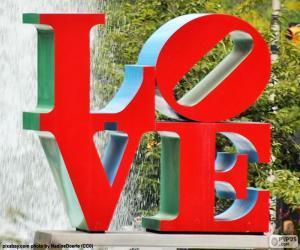 LOVE Sculpture puzzle