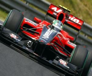 Lucas di Grassi - Virgin - 2010 Hungarian Grand Prix puzzle