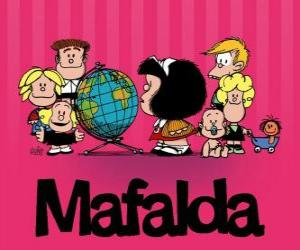 Mafalda and friends puzzle