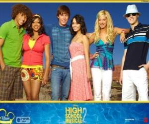 Main characters from High School Musical 2 puzzle