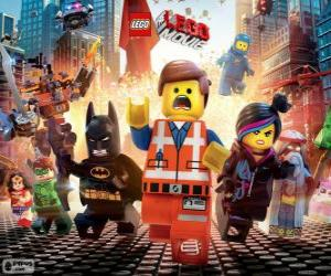 Main characters from the movie Lego puzzle