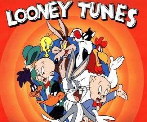 main characters of Looney Tunes puzzle