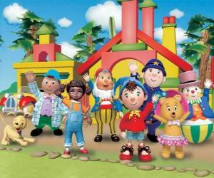 Main characters of Noddy puzzle