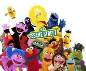 Main characters of Sesame Street puzzle
