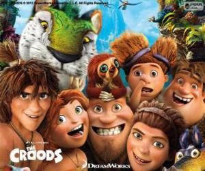 Main characters of the Croods puzzle