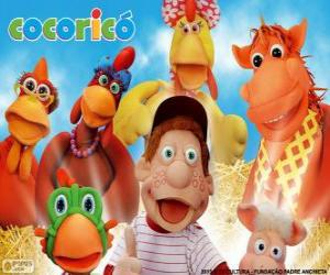 Main characters of the farm Cocorico puzzle