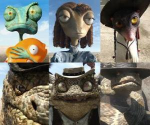 main protagonists of the film Rango puzzle
