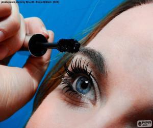 Make eyelashes puzzle