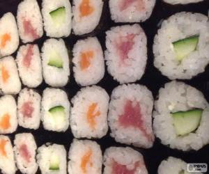 Makis, variant of sushi puzzle