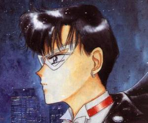 Mamoru Chiba or Darien Shields becomes the hero Tuxedo Mask, a masked man dressed in tails puzzle