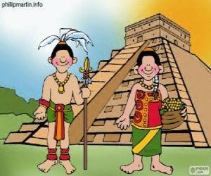 Man and woman mayan puzzle