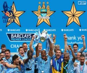 Manchester City, Premier League 2013-2014 champion, England Football League puzzle