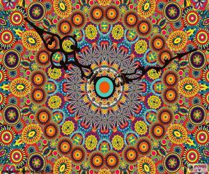 Mandala, clock puzzle