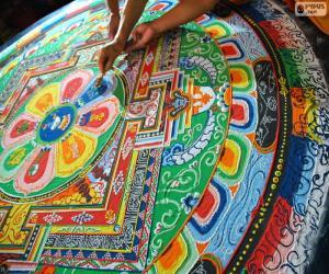 Mandala, latest retouching puzzle