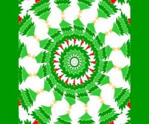 Mandala with Christmas decorations puzzle