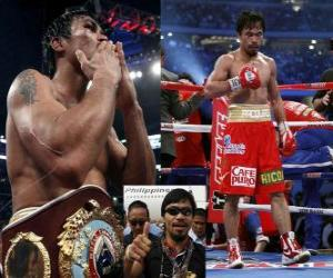 Manny Pacquiao also known as Pac-Man, is a Filipino professional boxer. puzzle