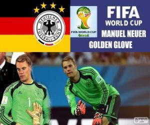 Manuel Neuer, Gold Glove. Brazil 2014 Football World Cup puzzle