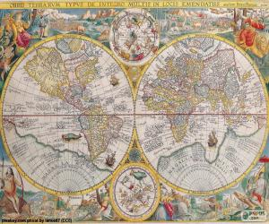 Map historic in the world puzzle