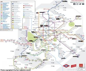 Map of the Madrid Metro puzzle