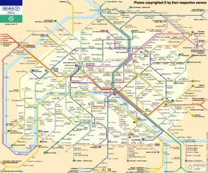 Map of the Paris Métro puzzle