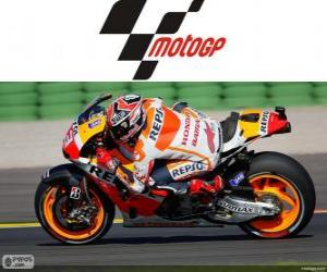Marc Márquez, 2013 world champion of MotoGP puzzle