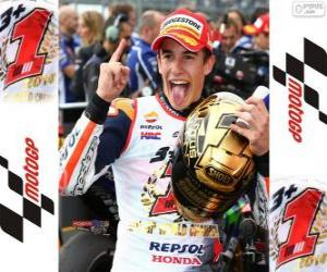 Marc Márquez, 2014 world champion of MotoGP puzzle