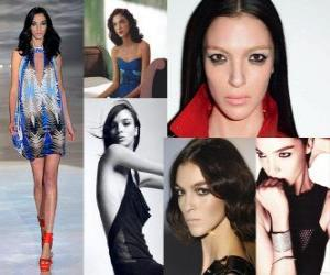 Mariacarla Boscono is an Italian model puzzle