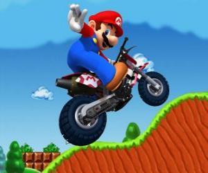 Mario Bros on a motorcycle puzzle
