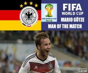 Mario Götze, best player of the final. Brazil 2014 Football World Cup puzzle