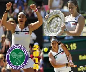 Marion Bartoli champion Wimbledon 2013 puzzle