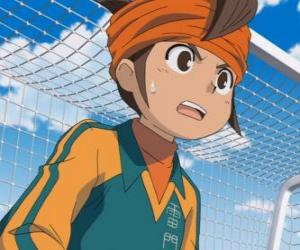 Mark Evans or  Mamoru Endo, goalkeeper of the Raimon School's football team and main protagonist of the series Inazuma Eleven puzzle