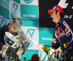 Mark Webber in the podium puzzle