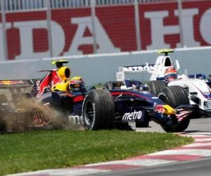 Mark Webber piloting its F1 puzzle