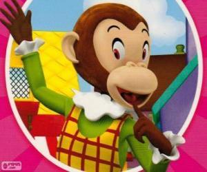 Martha Monkey makes jokes to the other toys puzzle