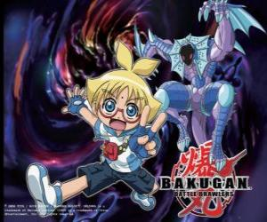 Marucho and Preya its Aquos Guardian Bakugan puzzle